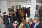 """vernissage de l'exposition """"16 premiers romans, 28 artistes"""""""
