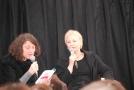 Sophie Quetteville interviewant Lydie Salvayre