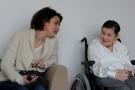 h4/ Yannick Grannec (à droite) lors de la rencontre à la maison de retraite CIGMA  © Club photo des Fourches