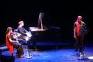 spectacle d'inauguration avec James Noël, Alexis Gfeller et Priscille Oehninger-Gfeller
