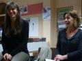 Rencontre avec Violaine Bérot (à gauche) / jeudi 10 décembre à la bibliothèque de Saint-Berthevin