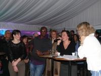 joute poétique avec (de gauche à droite) Irina Teodorescu, Wilfried N'Sondé et Marie Desmeures des éditions Actes Sud